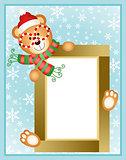 Christmas teddy bear frame