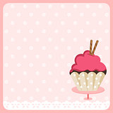 Cute Cupcake Background