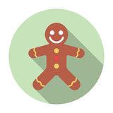 Gingerbread Flat Icon