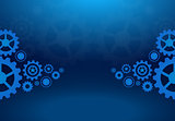 Cogs wheels blue dark background