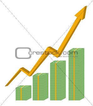 Cash business graph vector design