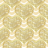 Seamless Gold Valentine Pattern
