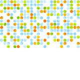 Bright abstract retro circles design