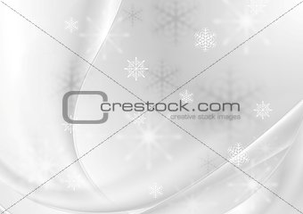 Abstract grey pearl wavy Christmas background