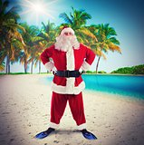 Santa Claus on tropical vacation