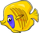 exotic fish cartoon character
