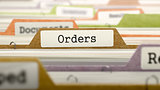 File Folder Labeled as Orders.