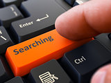 Searching - Clicking Orange Keyboard Button.