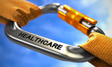 Chrome Carabiner Hook with Text Healthcare.