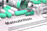 Malnutrition Diagnosis. Medical Concept.