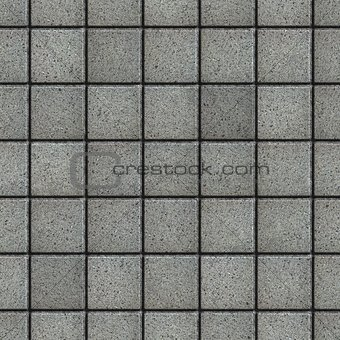 Gray Square  Pavement with the Effect of Marble.