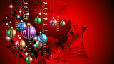 Merry Christmas Seasonal Background for your greeting cards,