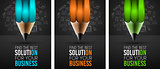 Business Success Concept with Doodle design style