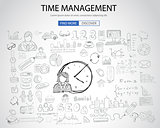 Time Management concept with Doodle design style
