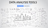 Data Analysis Tools with Doodle design style