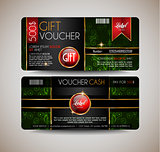 Voucher Gift Card layout template for your promotional design,