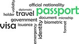 word cloud - passport