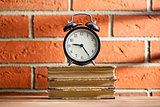 The old clock and old books