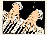 piano keys pianist hands