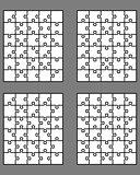 four white puzzles