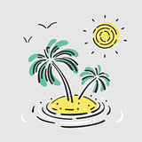 Vector Symbol Palm Island