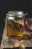 Fresh rosemary and olive oil