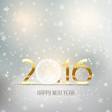 Happy New Year background with glass bauble