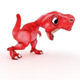 Friendly Cartoon Dinosaur