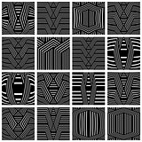 Striped patterns set. Design elements.