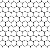 Seamless hexagons latticed texture.