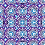 Colorful vintage violet-blue-white seamless pattern