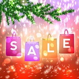 Christmas sale background with Christmas decoration