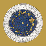 Venice zodiac clock, sketch for your design