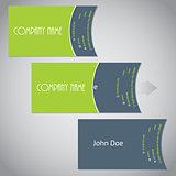Simplistic two piece business card