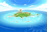 Adventure Island Landscape Fantasy