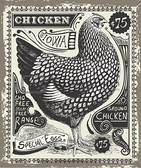 Advertising Poultry 01 Vintage 2D