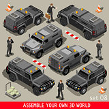Armoured 01 Vehicle Isometric