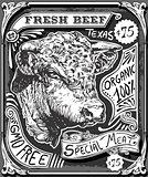 Beef 01 Vintage Blackboard