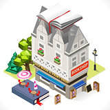 Book Shop Building Isometric