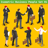 Business Poses 01 People Isometric