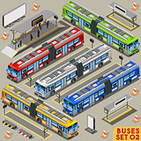 Bus Set 02 Vehicle Isometric