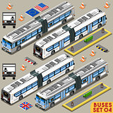 Bus Set 04 Vehicle Isometric