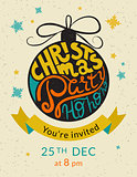 Christmas party ho ho ho invitation template