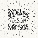 Awesome design inspiration handwritten design element