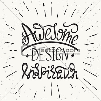 Awesome design inspiration handwritten design element