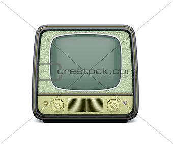 Classic retro TV isolated on white background