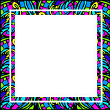 Stained-Glass Abstract Square Frame
