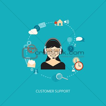 flat  elements for support service