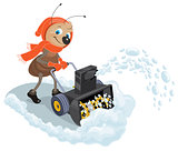 Ant domestic snow-plow. Snow thrower