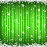 The green snowy background